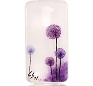 Purple Dandelion Pattern Pattern Relief Glow in the Dark TPU Phone Case for LG K10/K8/K7/K5