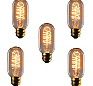 5pcs HRY® T45 E27 40W Incandescent Light Bulbs Antique Vintage Retro Edison Light Bulbs(220-240V)
