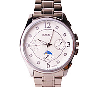 Men's Fashion Watch Water Resistant / Water Proof Casual Watch Quartz Alloy Band Silver Multi-Colored