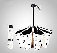guarda-chuva guarda-sol guarda-sol protetor solar UV mulher negra ultralight criativo dobrar bolinhas de vinil