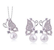 Women's Ambilight Sweet Butterfly Shape Necklace Earring Sets