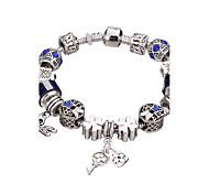 Femme Filles´ Charmes pour Bracelets Bracelets Rigides Bracelets de rive Bracelets en Argent Strass Plaqué argent AlliageDurable Mode