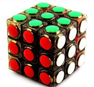 Magic Cube / Puzzle Toy IQ Cube Yongjun Three-layer Speed Smooth Speed Cube Magic Cube puzzle Black / White Plastic