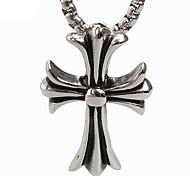 rétro croix de titane collier pendentif