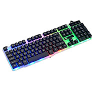 Mechanical Touch Backlights Wired USB Pro illuminated Keyboards with Metal Bottom