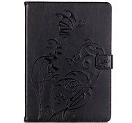 PU leather Material Butterfly Pattern Plate Embossing Protective Case for for iPad Air/iPad Air 2