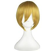 Perruques de Cosplay Vocaloid Kagamine Len Doré Court Anime Perruques de Cosplay 36 CM Fibre résistante à la chaleur Masculin / Féminin