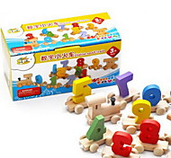 JF13 wooden 0-9 digital small train children's intellectual educational toys baby toys educational toys