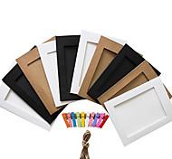 "5 ""10 pcs random color paper photo frames"