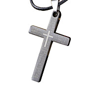 Man Necklace, Creative Cross Stainless Steel, Titanium Steel Pendant - Single Cross
