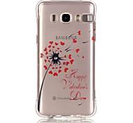 Dandelion Love Pattern TPU Popular Brands Calling Flash Case Cover For Samsung Galaxy J7 (2016) / J5 (2016) / J1 (2016)