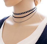 Fashion Rivet Multilayer Necklace