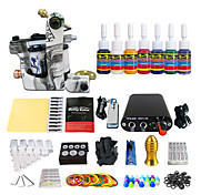 Stainless Steel Pedal Mini Power Coil Tattoo Kit Equipment (Handle Color Random Delivery)