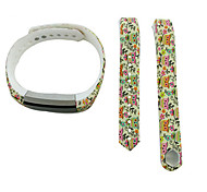 Smart Strap Bracelet Colorful Printing Silicone Bracelet For Fitbit Alta(22)