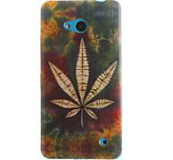 Maple Leaf Pattern TPU+IMD Soft Case for Multiple Nokia Lumia 640/N535/N630/N530
