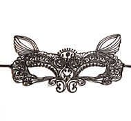Black Sexy Lady Lace Mask Cutout Eye Fox for Masquerade Party Fancy Dress Costume