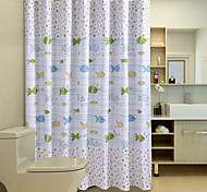 "Cute Cartoon Pattern Shower Curtains W71""×L71"""