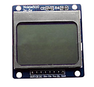 Blue microcontroller development board with Nokia 5110 LCD module LCD driver