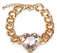 Heart Shape Crystal Chain Bracelet