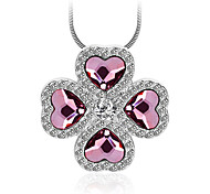 Necklace Pendant Necklaces / Pendants Jewelry Daily / Casual Fashion Crystal White / Purple 1pc Gift