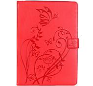 На все тело бумажник / Визитница / Other Цветы Искусственная кожа Мягкий Embossed leather Для крышки случая Apple iPad Air