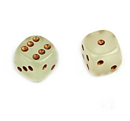 15mm Green Light Luminous Dices (2PCS)