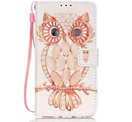 EFORCASE® Shell Owl 3D Painted Lanyard PU Phone Case for Huawei P9lite