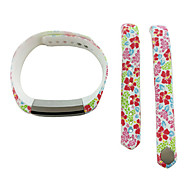 Smart Strap Bracelet Colorful Printing Silicone Bracelet For Fitbit Alta(05)