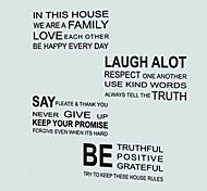 Слова и фразы Наклейки Простые наклейки / Зеркальные стикеры Декоративные наклейки на стены / Наклейки на холодильник,PVC материал Съемная