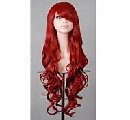 80 cm New Product Fashion Red Hair Synthetic Wigs Cheap Cosplay Wig