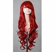 Capelli rossi 80 cm nuova moda prodotto parrucche sintetiche parrucca cosplay a buon mercato