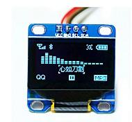 """0.96 """"polegadas azul i2c CII série 128x64 LCD OLED levou módulo de exibição para arduino 51 msp420 stim32 scr"""