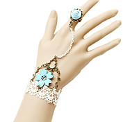 Flower Lace Ring Bracelet Jewelry Sets