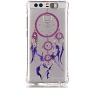 Blue Campanula Rhinestone Drop Resistance Calls Flashing TPU Soft Case Phone Case for Huawei P9/Huawei Honor 5X