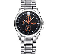 Men's Fashion Watch Quartz Casual Watch Stainless Steel Band White