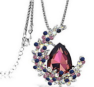 Exquisite Crystal Moon Drop Pendant Necklace Jewelry for Lady