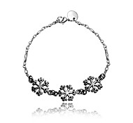 Italy Silver Christmas Gift Snow Charms Black and Silver Fashion Jewelry Bracelet for Girl