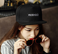 Korean Hip Hop Embroidery Plain Edge Cap Baseball Cap