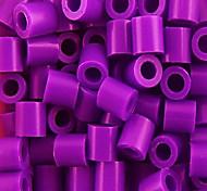 ca. 1000pcs / bag 5mm Mischfarbe Bügelperlen Hama Perlen DIY-Puzzle EVA-Material safty für Kinder (gelegentliche Farbe)