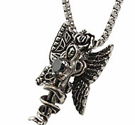 The Titanium Necklace Pendant Card Islamic - Black