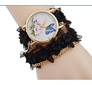 Woman Flower Fashion Wrist Watch