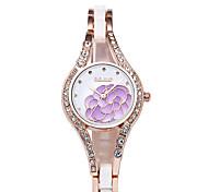 Women's Fashion Watch Bracelet Watch Simulated Diamond Watch Casual Watch Imitation Diamond Quartz Stainless Steel Band Black White