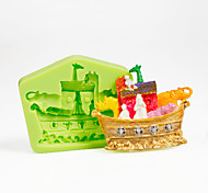 Multi Animal Ship Nautical Silicone Mold for Chocolate Polymer Clay Sugarcraft Tools Cake Decorations Color Random