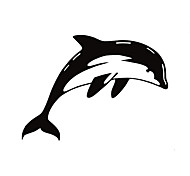 Fashion The  Porpoise Pattern PVC Bathroom or Bedroom or Glass Wall Sticker Home Decor