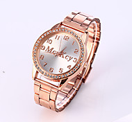 Men's European Style Luxury Fashion Shiny Rhinestone Quartz Wrist Watch