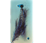 Feather Pattern TPU+IMD Soft Case for Multiple Nokia Lumia 640/N535/N630/N530