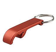Standard Aluminum Beverage Bottle Opener Metal Keychain Ring Claw Random Color