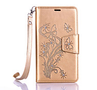 "For ASUS ZenFone Go / Go TV (ZB551KL) 5.5""Luxury Retro Butterfly Diamonds embossed wallet Phone Cover With Stand"