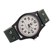 Herren Kleideruhr Japanischer Quartz Armbanduhren für den Alltag Leder Band Armbanduhr / Armband Schwarz / Weiß / Braun / Mehrfarbig