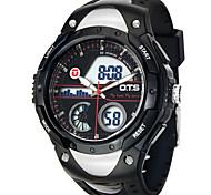 Masculino Relógio Esportivo / Relógio Militar / Relógio de Pulso Digital / Quartzo JaponêsLCD / Calendário / Dois Fusos Horários / alarme
